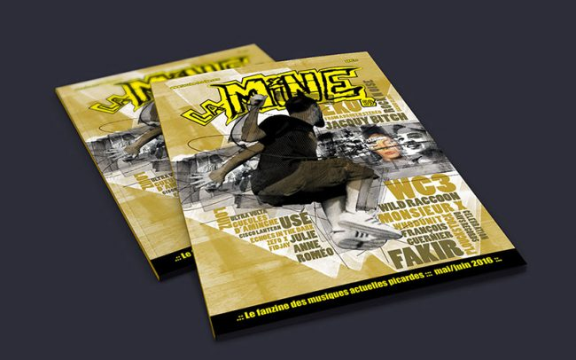 Conception graphique cover & rédaction articles - Fanzine La Mine - © David Stupak