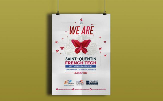 Création graphique advert pour magazine Entreprendre et planète Robots pour La Communauté d'agglomération de Saint-Quentin