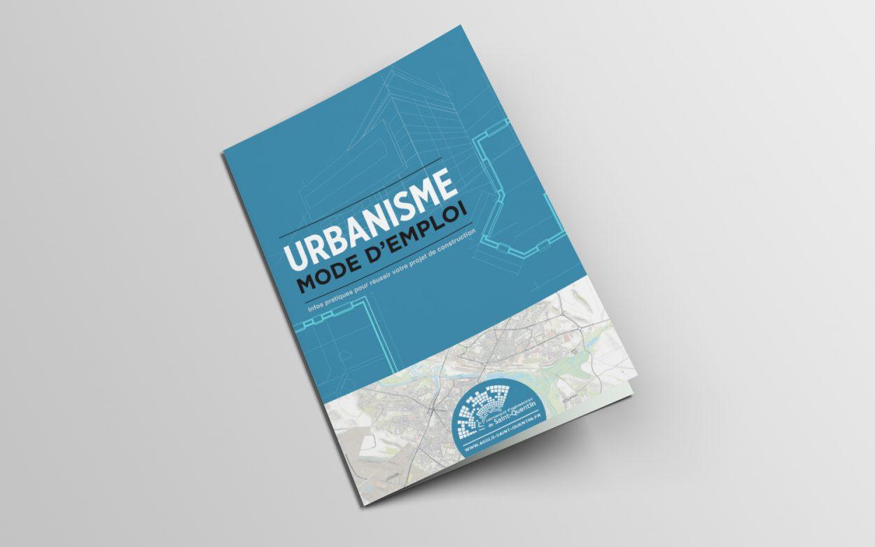 Création graphique plaquette urbanisme mode d'emploi pour La Communauté d'agglomération de Saint-Quentin