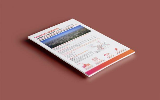 Création graphique plaquette Smart City pour La Communauté d'agglomération de Saint-Quentin