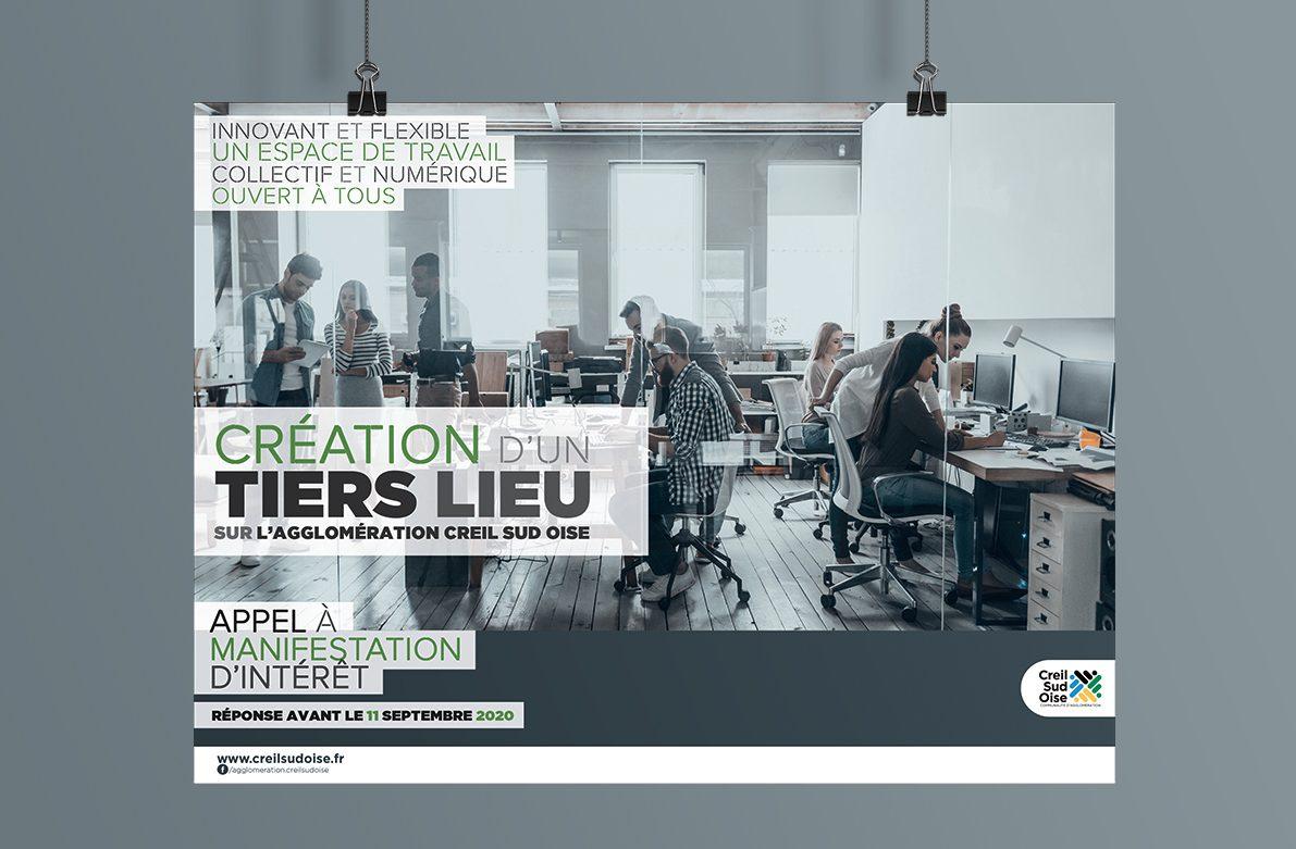 Création visuel Création d'un tiers lieu - affiche - encart pub - déclinaison web pour l'A.C.S.O
