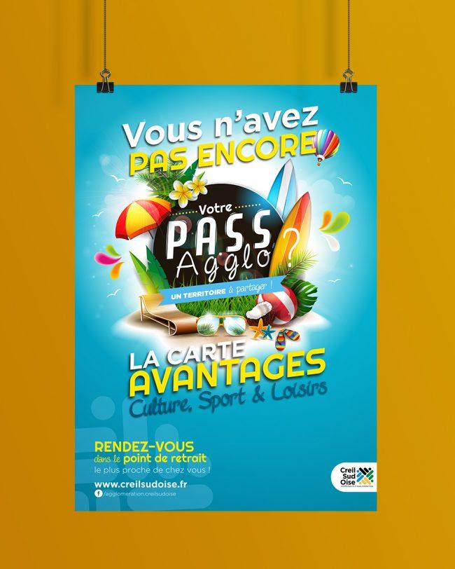 Création visuel PASS AGGLO 2020 - affiche - guide - déclinaison web ...pour l'A.C.S.O