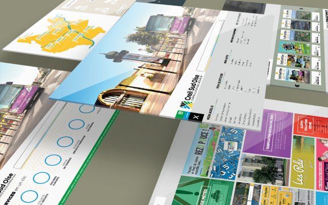 Création - élaboration propositions interfaces graphiques site A.C.S.O - Mini site et landing page