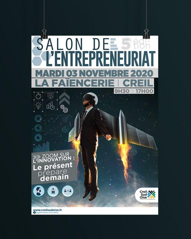 Création visuel Salon Entrepreneuriat- affiche - déclinaison web pour l'A.C.S.O