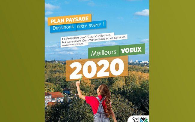 CRÉATION VISUEL VOEUX 2020 POUR A.C.S.O - ABRIBUS - CARTE - DECLINAISON WEB